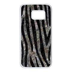 Skin4 Black Marble & Gray Stone Samsung Galaxy S7 White Seamless Case by trendistuff