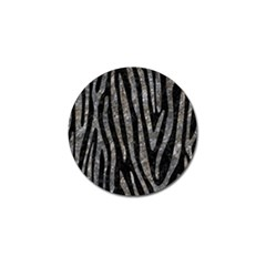 Skin4 Black Marble & Gray Stone (r) Golf Ball Marker (10 Pack)