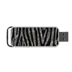 Skin4 Black Marble & Gray Stone (r) Portable Usb Flash (one Side) by trendistuff