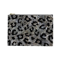 Skin5 Black Marble & Gray Stone Cosmetic Bag (large)  by trendistuff