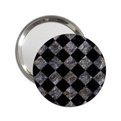 Square2 Black Marble & Gray Stone 2 25  Handbag Mirrors by trendistuff