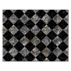 Square2 Black Marble & Gray Stone Rectangular Jigsaw Puzzl by trendistuff