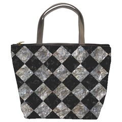 Square2 Black Marble & Gray Stone Bucket Bags by trendistuff