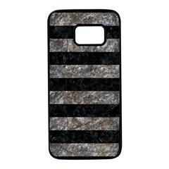 Stripes2 Black Marble & Gray Stone Samsung Galaxy S7 Black Seamless Case by trendistuff
