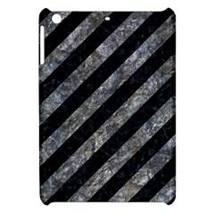 Stripes3 Black Marble & Gray Stone Apple Ipad Mini Hardshell Case by trendistuff