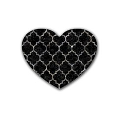 Tile1 Black Marble & Gray Stone Heart Coaster (4 Pack)  by trendistuff
