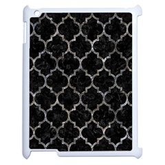Tile1 Black Marble & Gray Stone Apple Ipad 2 Case (white) by trendistuff
