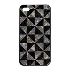 Triangle1 Black Marble & Gray Stone Apple Iphone 4/4s Seamless Case (black) by trendistuff