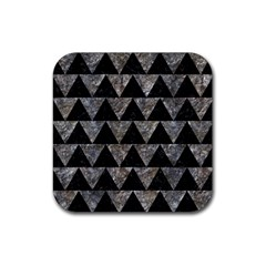 Triangle2 Black Marble & Gray Stone Rubber Square Coaster (4 Pack)  by trendistuff