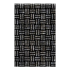 Woven1 Black Marble & Gray Stone Shower Curtain 48  X 72  (small)  by trendistuff