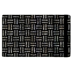 Woven1 Black Marble & Gray Stone Apple Ipad 2 Flip Case by trendistuff