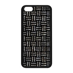 Woven1 Black Marble & Gray Stone Apple Iphone 5c Seamless Case (black) by trendistuff