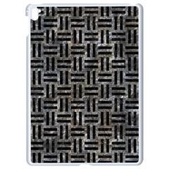 Woven1 Black Marble & Gray Stone (r) Apple Ipad Pro 9 7   White Seamless Case by trendistuff