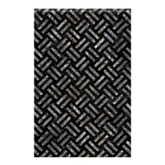 Woven2 Black Marble & Gray Stone Shower Curtain 48  X 72  (small)  by trendistuff