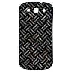 Woven2 Black Marble & Gray Stone Samsung Galaxy S3 S Iii Classic Hardshell Back Case by trendistuff