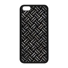 Woven2 Black Marble & Gray Stone Apple Iphone 5c Seamless Case (black) by trendistuff