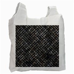 Woven2 Black Marble & Gray Stone (r) Recycle Bag (one Side) by trendistuff