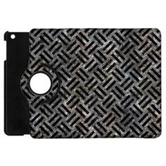 Woven2 Black Marble & Gray Stone (r) Apple Ipad Mini Flip 360 Case by trendistuff