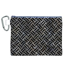 Woven2 Black Marble & Gray Stone (r) Canvas Cosmetic Bag (xl) by trendistuff