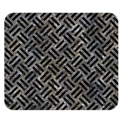 Woven2 Black Marble & Gray Stone (r) Double Sided Flano Blanket (small)  by trendistuff