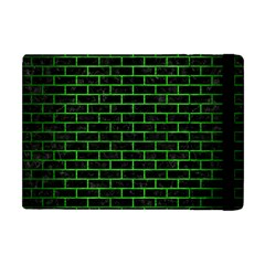 Brick1 Black Marble & Green Brushed Metal Apple Ipad Mini Flip Case by trendistuff