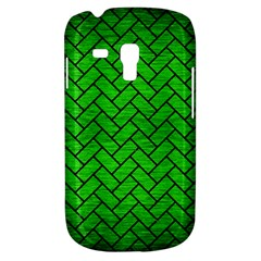 Brick2 Black Marble & Green Brushed Metal (r) Galaxy S3 Mini by trendistuff