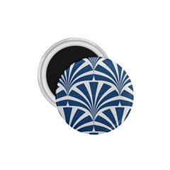 Teal,white,art Deco,pattern 1 75  Magnets by 8fugoso