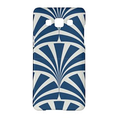 Teal,white,art Deco,pattern Samsung Galaxy A5 Hardshell Case  by 8fugoso
