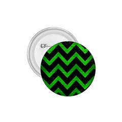Chevron9 Black Marble & Green Brushed Metal 1 75  Buttons by trendistuff
