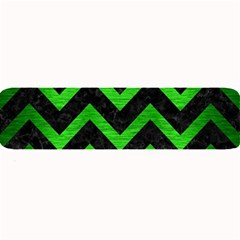 Chevron9 Black Marble & Green Brushed Metal Large Bar Mats by trendistuff