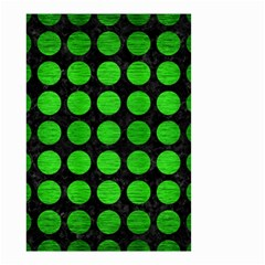 Circles1 Black Marble & Green Brushed Metal Small Garden Flag (two Sides) by trendistuff