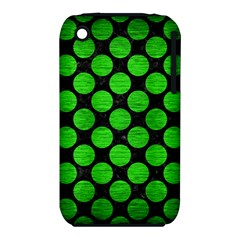 Circles2 Black Marble & Green Brushed Metal Iphone 3s/3gs by trendistuff