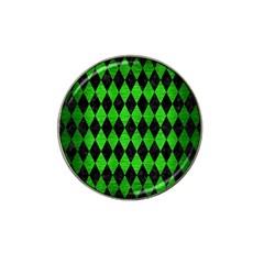 Diamond1 Black Marble & Green Brushed Metal Hat Clip Ball Marker (10 Pack) by trendistuff