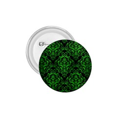 Damask1 Black Marble & Green Brushed Metal 1 75  Buttons by trendistuff