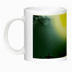 Halloween Landscape Night Luminous Mugs by Valentinaart