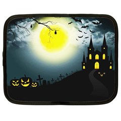 Halloween Landscape Netbook Case (large) by Valentinaart