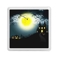 Halloween Landscape Memory Card Reader (square)  by Valentinaart