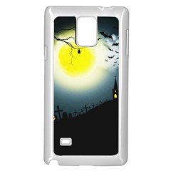 Halloween Landscape Samsung Galaxy Note 4 Case (white) by Valentinaart