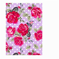 Shabby Chic,pink,roses,polka Dots Large Garden Flag (two Sides) by 8fugoso