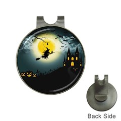 Halloween Landscape Hat Clips With Golf Markers by Valentinaart