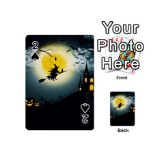 Halloween Landscape Playing Cards 54 (mini)  by Valentinaart