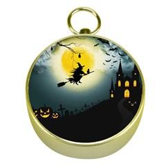 Halloween Landscape Gold Compasses by Valentinaart