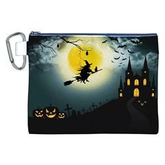 Halloween Landscape Canvas Cosmetic Bag (xxl) by Valentinaart