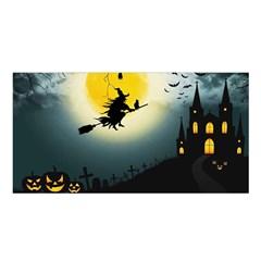 Halloween Landscape Satin Shawl by Valentinaart