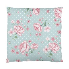 Shabby Chic,pink,roses,polka Dots Standard Cushion Case (two Sides) by 8fugoso
