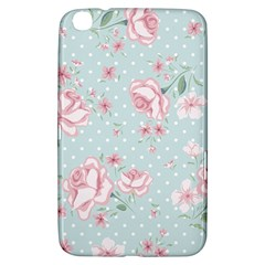 Shabby Chic,pink,roses,polka Dots Samsung Galaxy Tab 3 (8 ) T3100 Hardshell Case  by 8fugoso