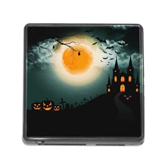 Halloween Landscape Memory Card Reader (square)