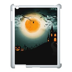 Halloween Landscape Apple Ipad 3/4 Case (white) by Valentinaart