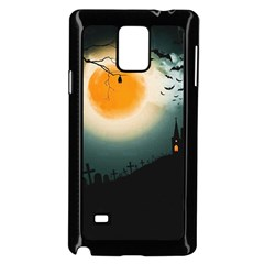 Halloween Landscape Samsung Galaxy Note 4 Case (black) by Valentinaart
