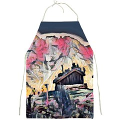 Modern Abstract Painting Full Print Aprons by 8fugoso
